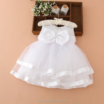Christmas Christening.2015 Cute Girl Clothing Flower Girl Dress Ivory Baptism Dress Big Lace Bow Girl Christmas Christening Lace Dress Buy Party Dress Party Wear New Girl