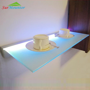 Hot Sale Aluminum Profile Glass Shelf Led Light Under Kitchen