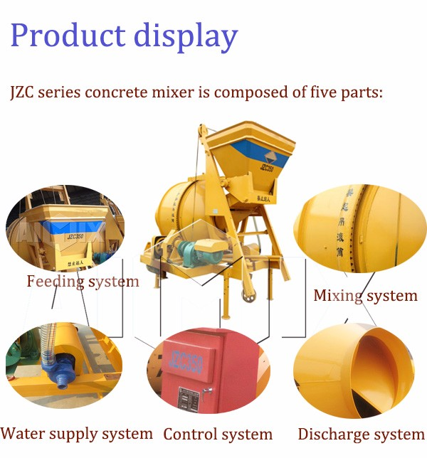 China jzc350 electric cement mixers concrete mixer machine price list image