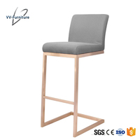 China manufacturer kitchen naomal fabric golden high chair bar stool
