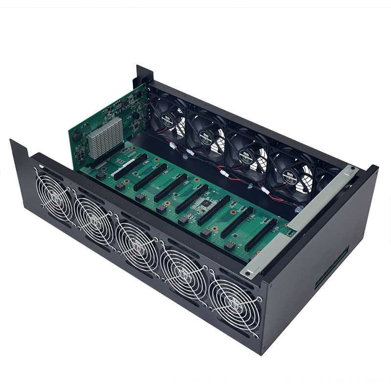 BTC Mining 200mhs bitcoin miner with 8 graphic card mining machine
