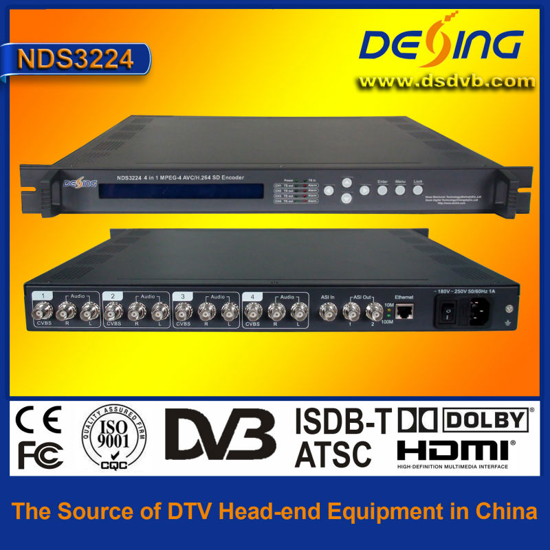 NDS3224 MPEG4 AVC H.264 SD IPTV encoder