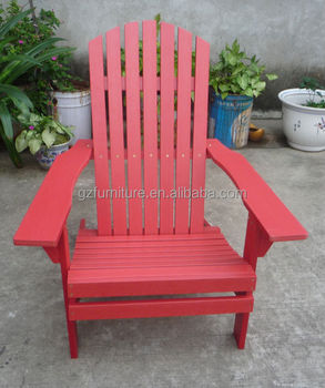 Recycled Poly Adirondack Chairs Red