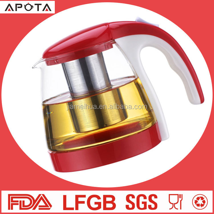 high quality glass teapot /kettle cup set with dishwasher safe