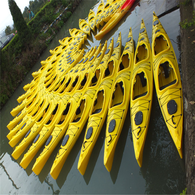 Professional lower price plastic angler kayak plastic fishing kayak