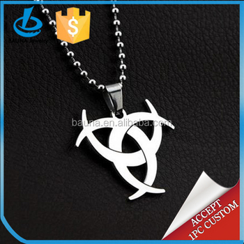 2018 new hip hop jewelry resident evil biohazard symbol pendant 2018 new hip hop jewelry resident evil biohazard symbol pendant cool necklace for men mozeypictures Image collections