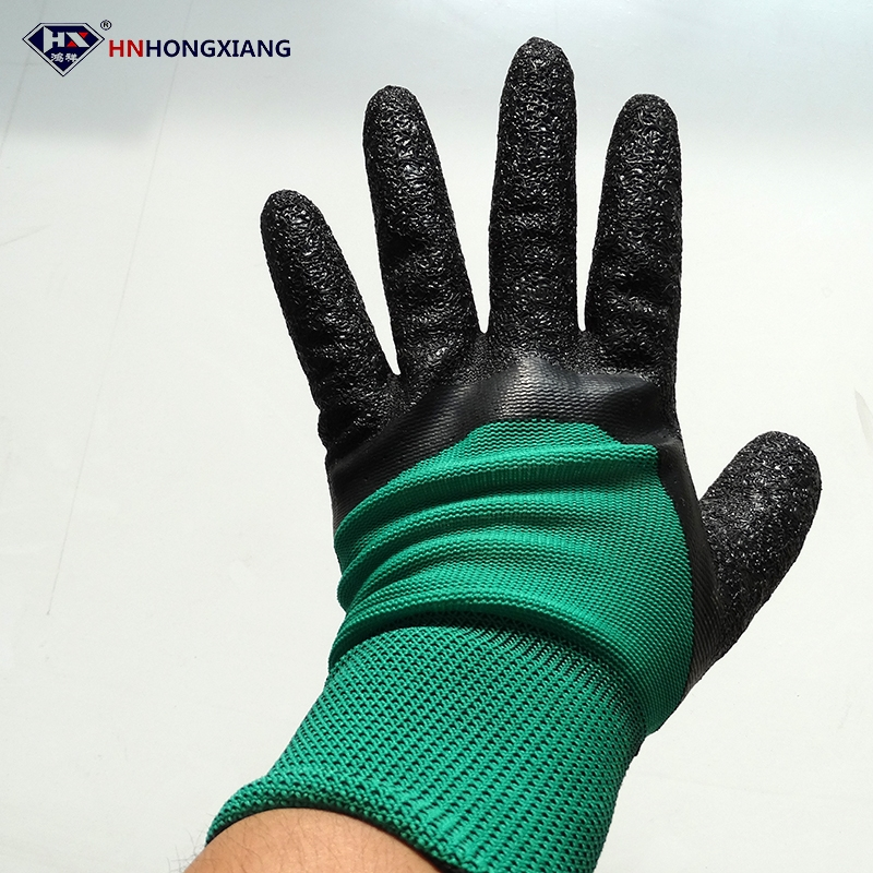 hnhongxiang China supplier safety hand glass working gloves