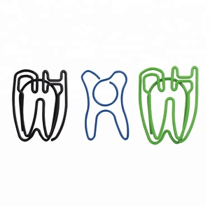Custom dentistry gift tooth shape novelty paper clips