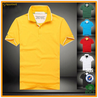 Stand collar t shirt without button comfortable t polo shirt for men blank t-shirt