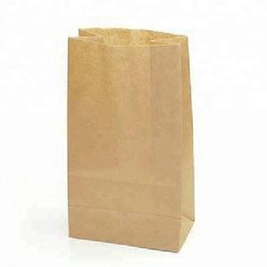 High quality reusable biodegradable rice food stand up kraft paper bag pouch