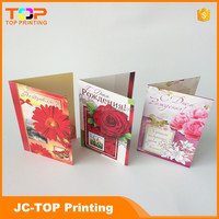 Promoted handmade best wishes paper greeting cards with rose for valentine's day