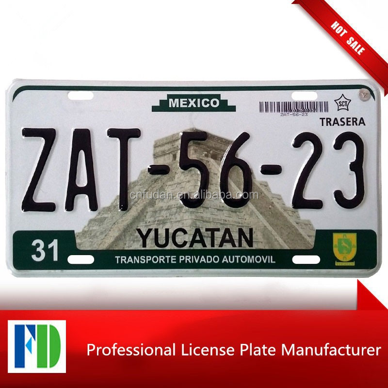 product gs expired mexico license plate yucatan state d flag number custom novelty metal car