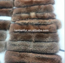 Women's Detachable Raccoon Fur Collar Scarf Shawl for Winter Coat