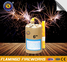 "China alibaba 6"" Cylinder Shell electric fireworks"