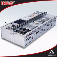 Industrial Hotel kitchen top rated gas ovens/used stoves