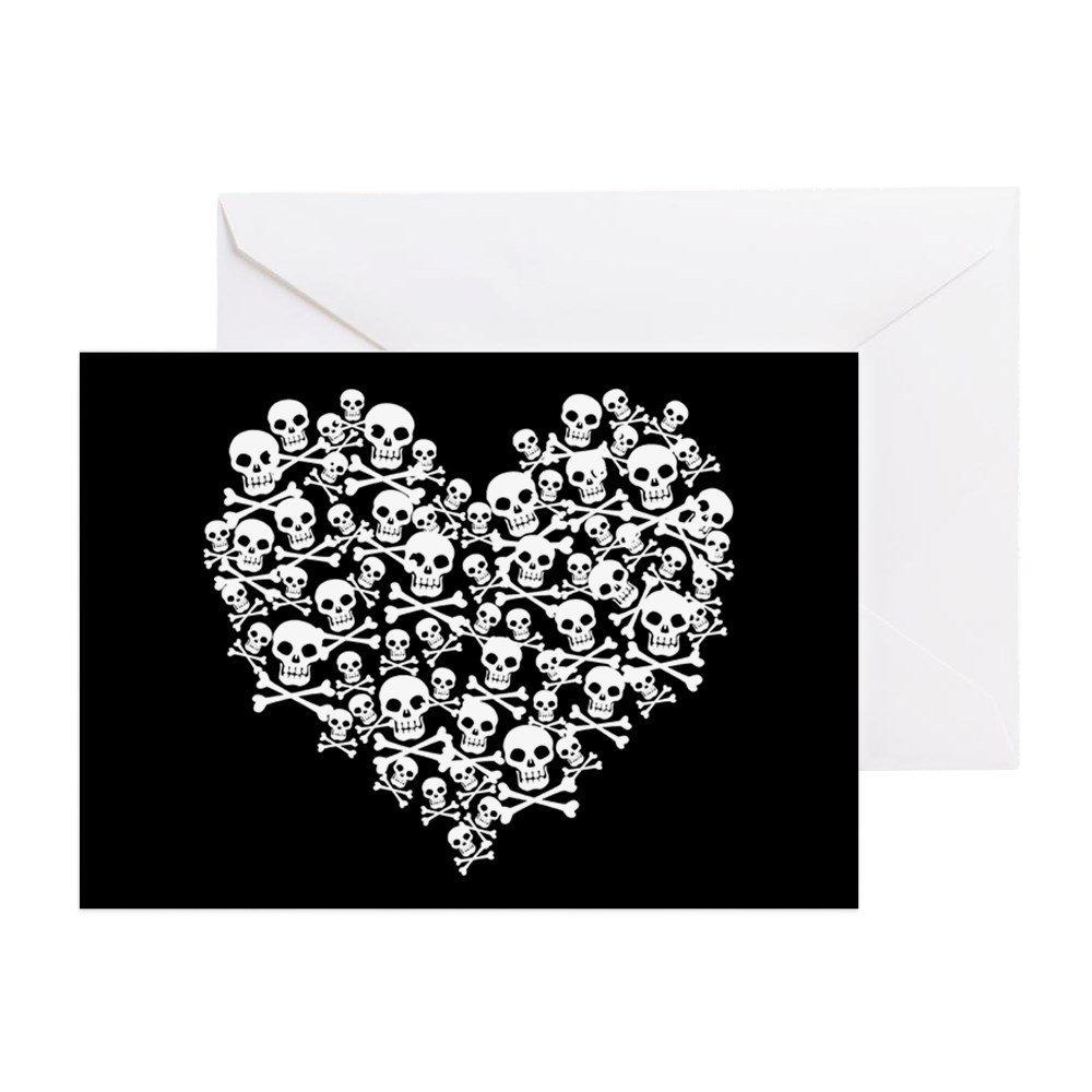 Buy Cafepress Skull Heart Greeting Card Greeting Card Note Card
