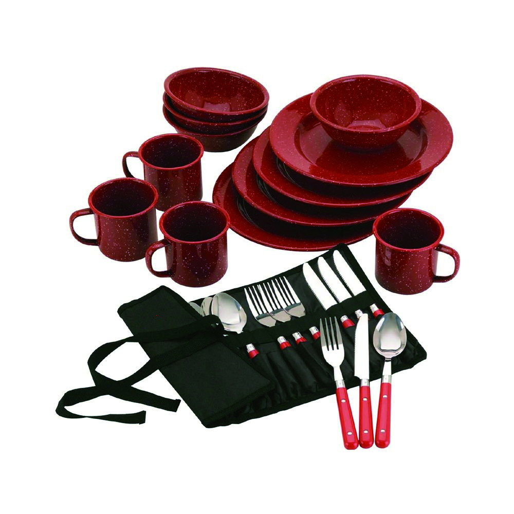 2020 SGS certificated carbon steel enamel camping dinner set