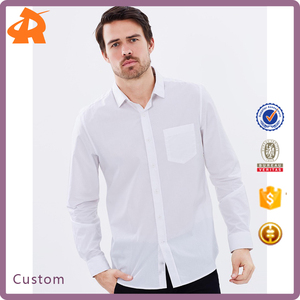 OEM new design business men t shirt,white dress shirt cotton manufacturer in china