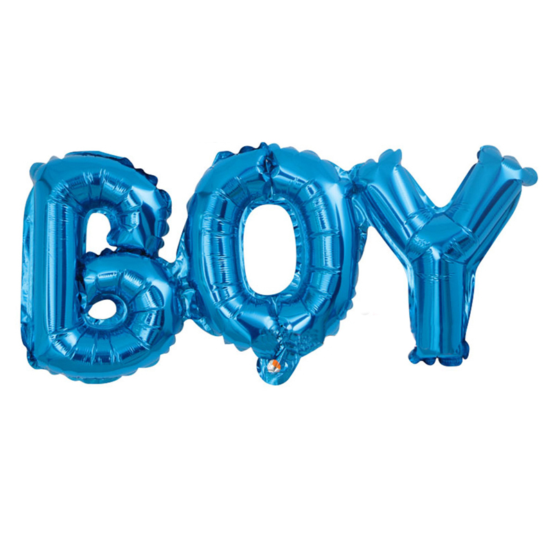 Boy Girl Letter Balloons Baby Shower Party Decoration Kids Blue Pink Ballon Lettre Wedding Balloons Event Supplies For Wedding
