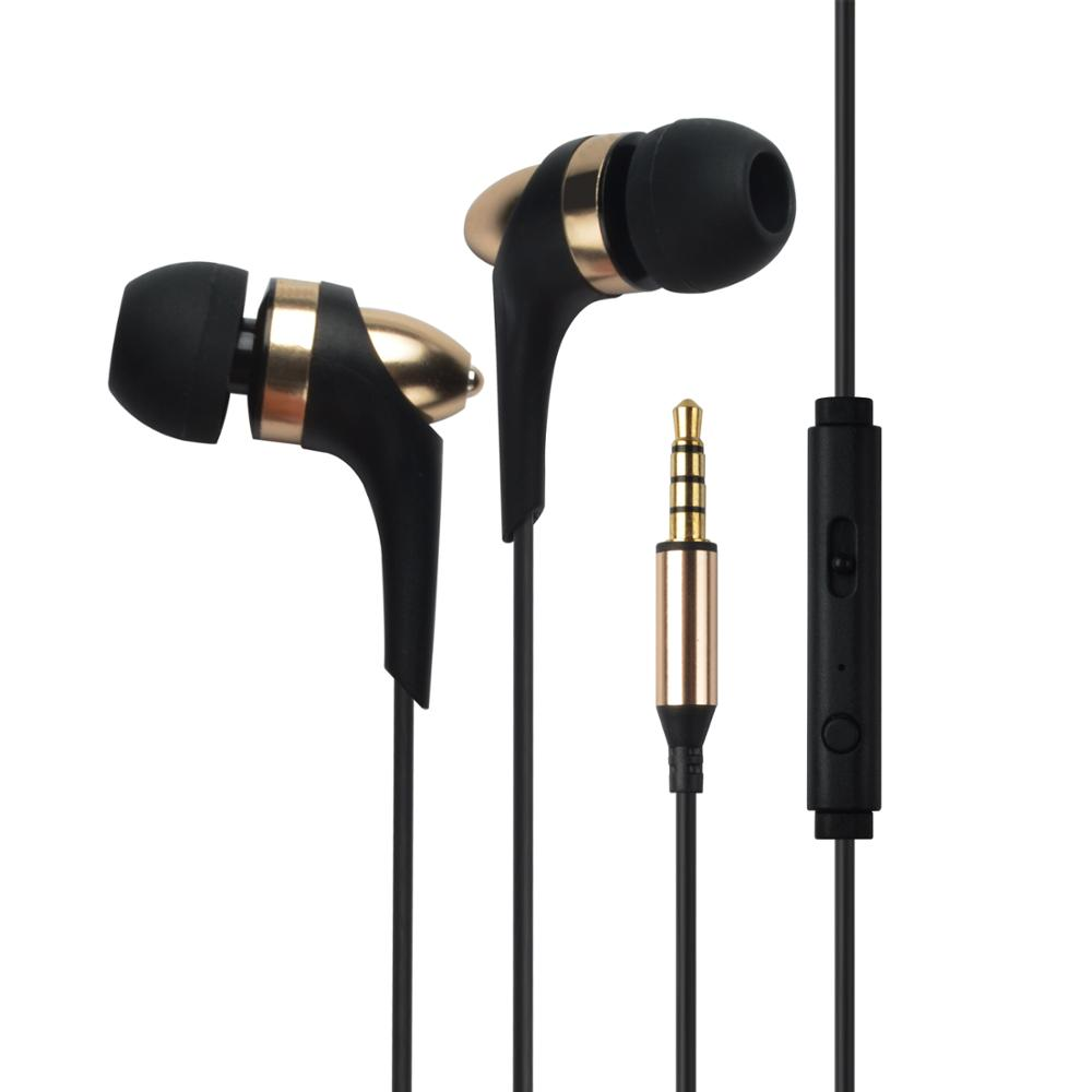 High Quality Super Bass Stereo metal in ear Earphone With Mic For Mobile Phone , Best Price Headset For Portable Media Player