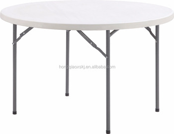 40inch Hdpe High Quality Plastic Folding Round Table Half Moon Banquet Table Restaurant Round Folding Table Tops Buy Plastic Folding Round