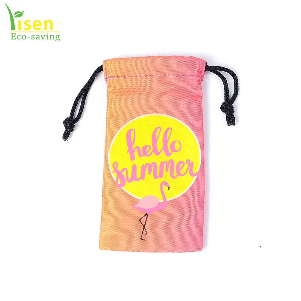 Durable Small Drawstring Pouches Decorative String Bags With Pocket