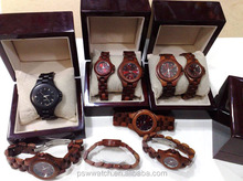 wholesale wood watch luxury men and women watches and accessories with wood box