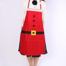 Hot New Christmas Kitchen Bar Decor Santa Claus Non-woven Xmas Home Apron
