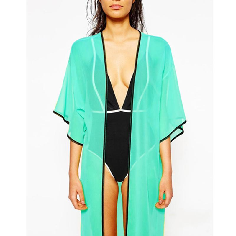 Новый! 2015 лето женщины мода пляж дамы сексуальный купальник купальный костюм сокрытия кафтан кимоно пляжная одежда, В наличии