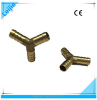 Brass Casting Three-way Hose Barb Connection Copper Pipe Y Fitting