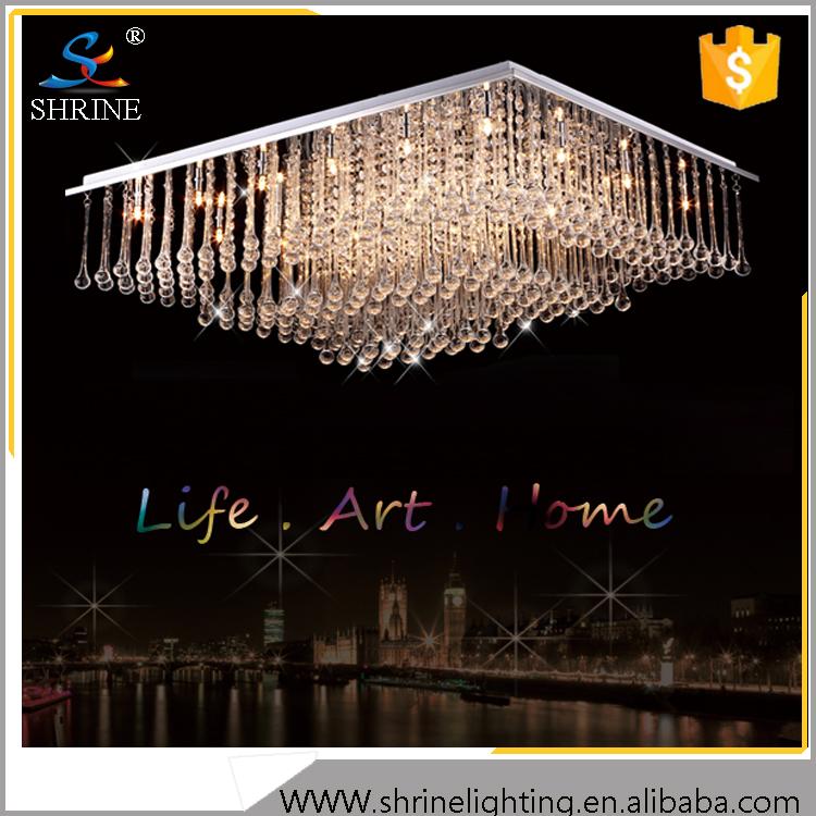 Moderna iluminaci n de techo de cristal brillante y - Iluminacion lamparas de techo ...