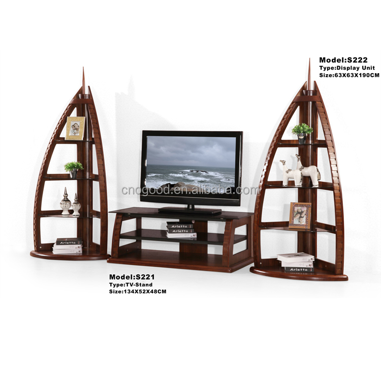 Wooden Fancy Latest Design Lcd Tv Stand Design