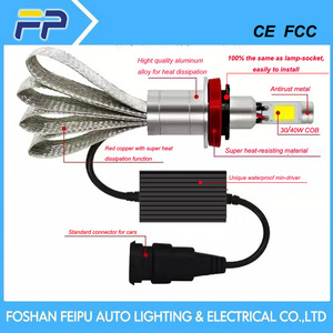 LED car head lights and led car lights kits for replacing HID and original halogen light