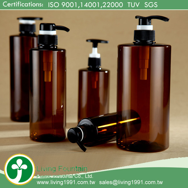 500ml Pet Plastic Bottle Label / Pump Liquid Soap Shampoo Bottle