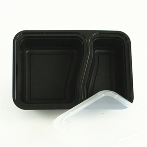30oz plastic food storage container, 2 compartment disposable camping cookware bento lunch box