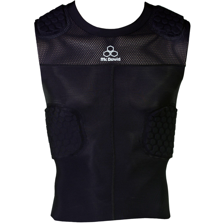 Get Quotations · McDavid Classic Logo 7870 Y CL Hex Pad Mesh Sleeveless 5  Pad Shirt Black Youth Large