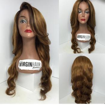 Fashion Virgin Peruvian Mix Brown Hair Bun Wig With Baby Hair Buy