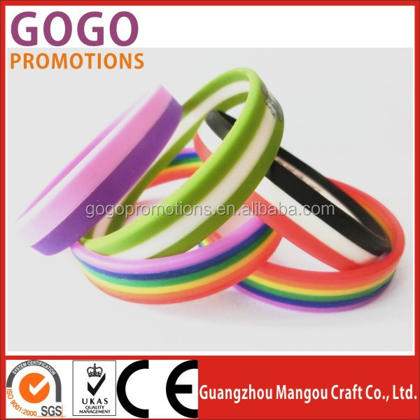 Customized Logo Friendship Thin Silicone Bracelets With Sayings ...