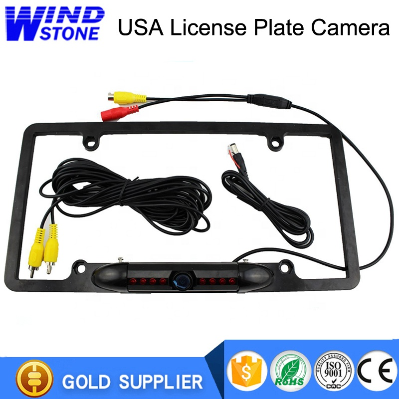 Universal Car License Plate Frame Mount 8 IR LED Reverse Car Camera