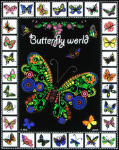 Rili 16x20 Butterfly Fuzzy Velvet Art Posters Funny to Color