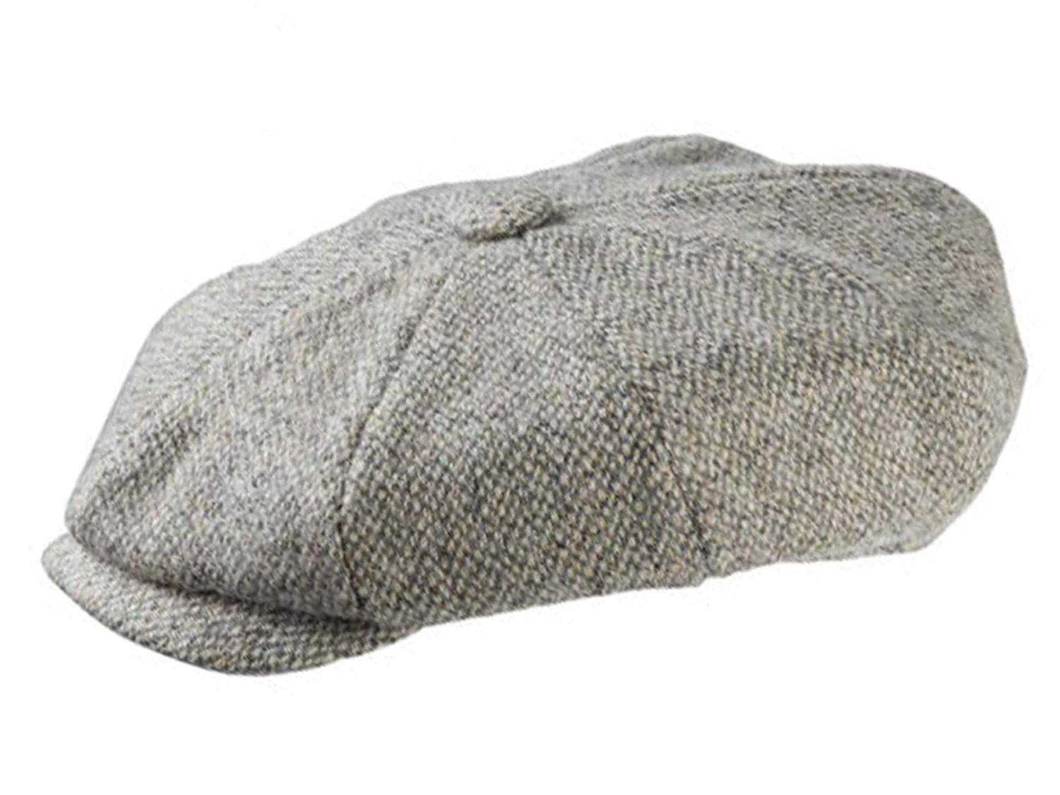 8f6e9cf920bf2 Get Quotations · Olney Redford Harris Tweed Newsboy Cap