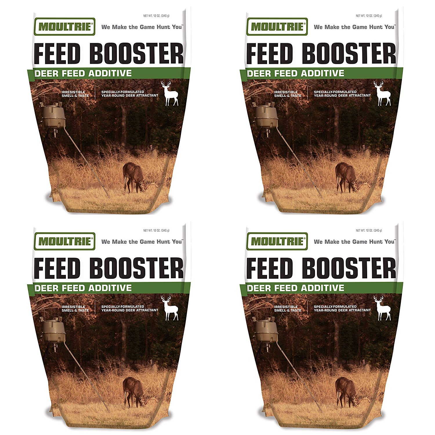 Moultrie Feed Booster Deer and Buck Additive 12-Ounce Bag MFS-13077 (4 Pack)
