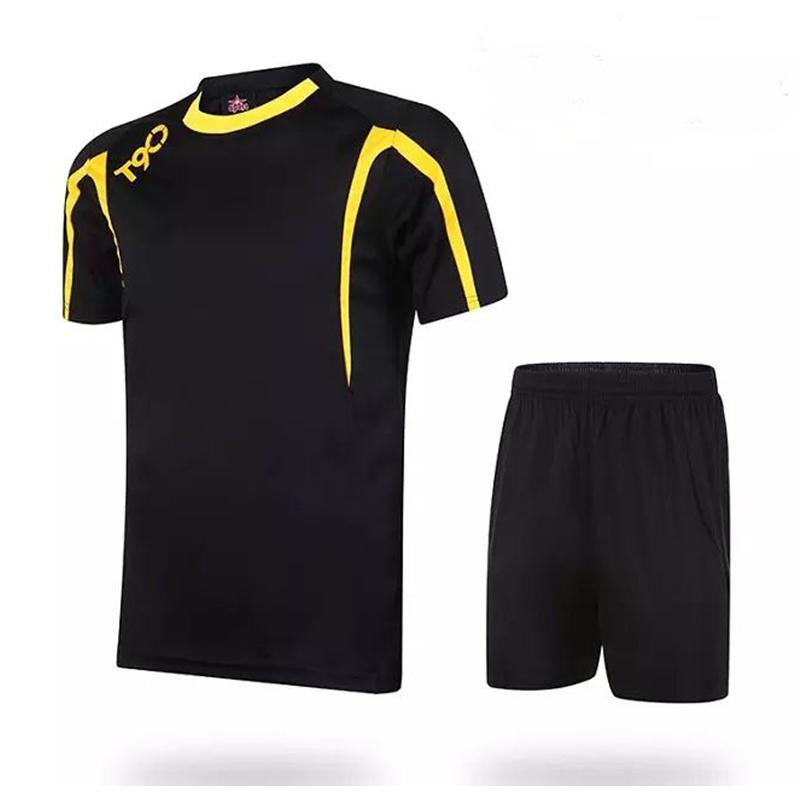 146aa490572 Get Quotations · 2015 16 Mens Soccer Jersey Set Kids Football Short-sleeve  Jersey Blank Paintless Training
