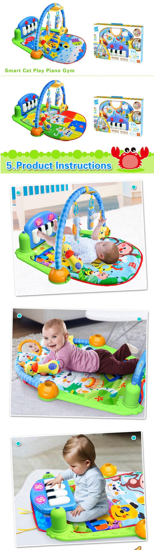 Cheap New Design Musical Baby Activity Mat Crawling Carpet Play