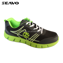 SEAVO SS17 popularity china factory online wholesale no brand black mesh pu heat melt 3d sole men sport shoes