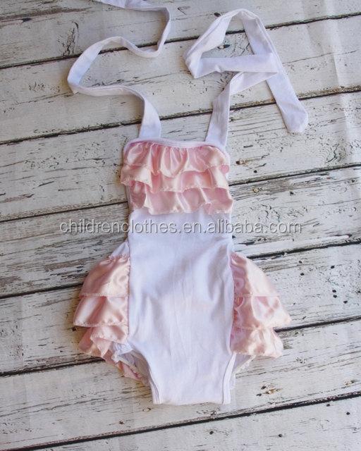 bf233cc4f حار بيع ملابس اطفال حديثي الولادة الرضع ملابس الصيف الكشكشة رومبير الطفل  السروال القصير