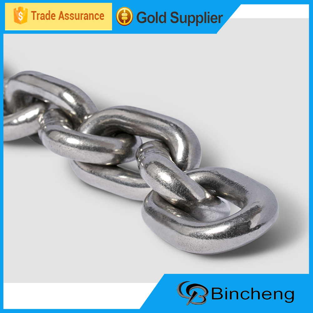 6mm SS 304/316 G50 Stainless steel link Chain