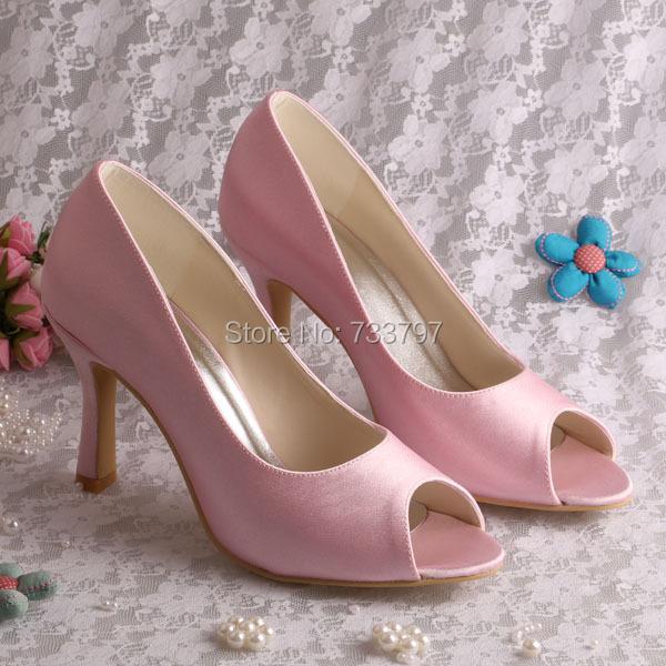 14 Colors) Elegant Light Pink Dress Shoes For Women - Buy Elegant ...