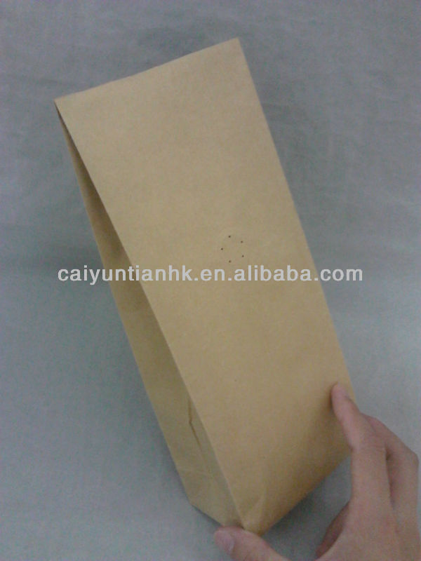 printed kraft paper bag food packaging bag/Browm kraft paper bag ouches for food
