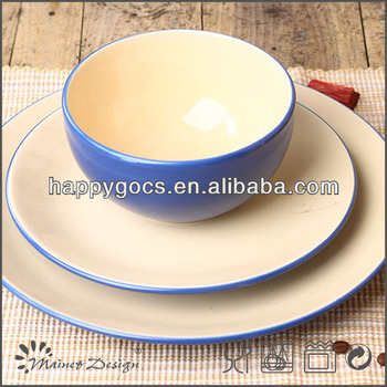 UK 12pcs blue stoneware dinnerware sets solid color two tone dinnerset  sc 1 st  Alibaba & Uk 12pcs Blue Stoneware Dinnerware Sets Solid Color Two Tone ...